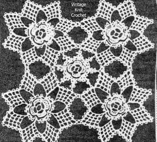 Crochet Star Medallion Pattern, Flower Center