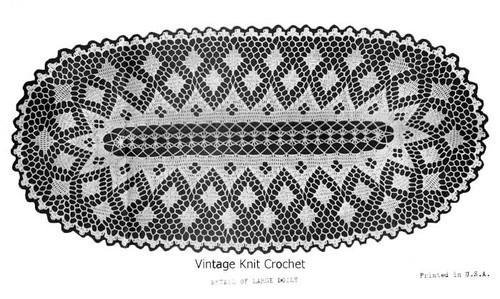 Large Oval Crochet Doily pattern illustration for Design 6979