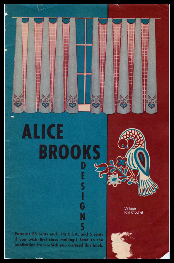 Alice Brooks 1953 Needlework Pattern Catalog