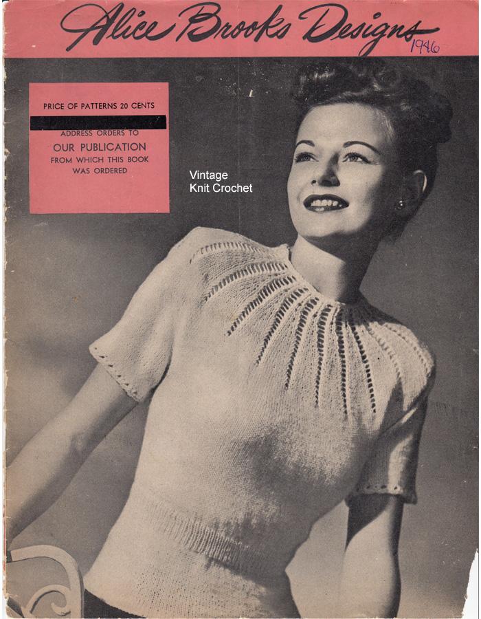 Alice Brooks 1946 Knit Crochet Pattern Catalog