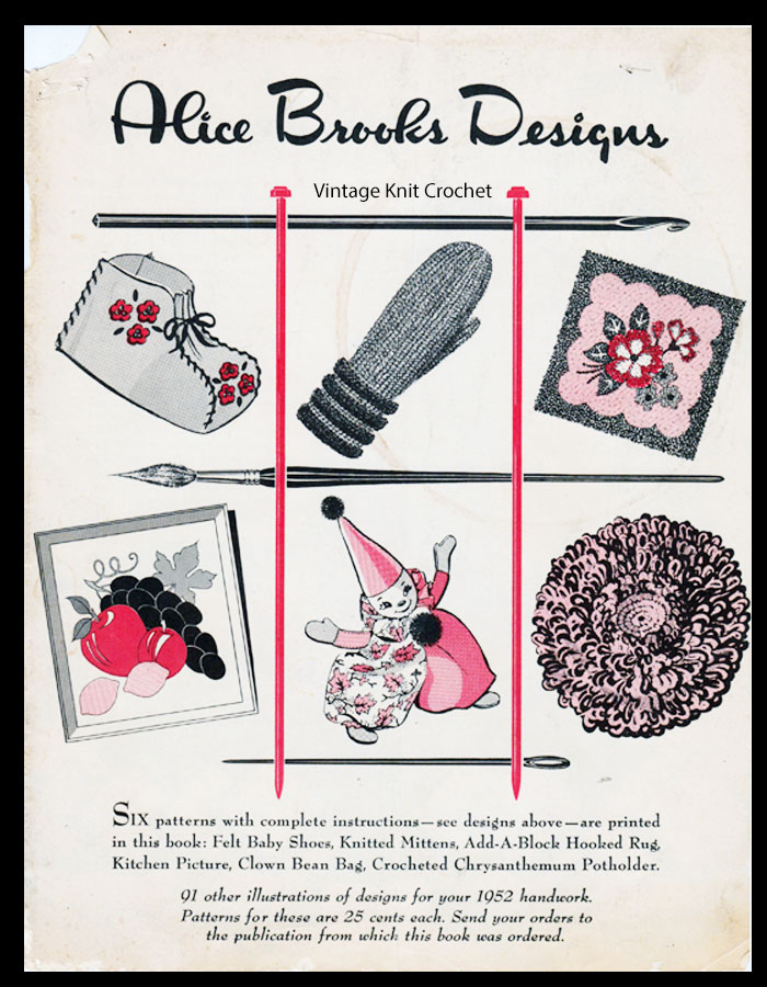 Alice Brooks 1952 Needlework Pattern Catalog