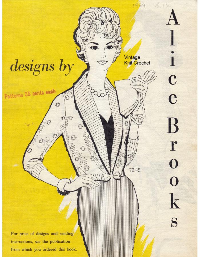 Alice Brooks 1959 Needlework Pattern Catalog