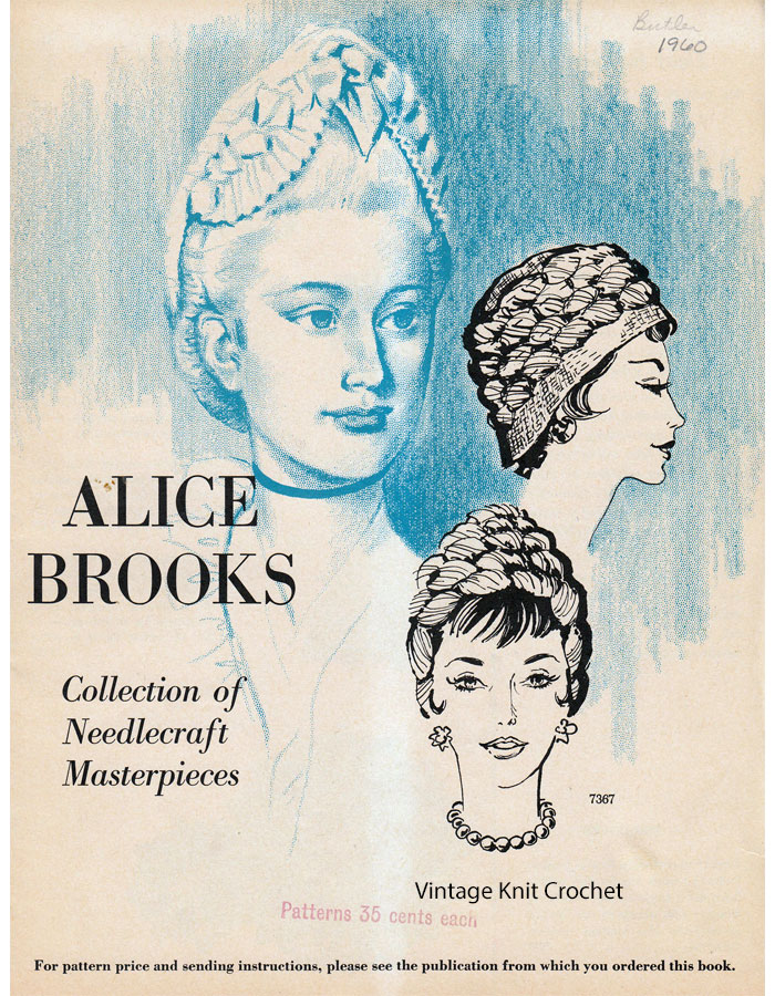 Alice Brooks 1960 Needlework Pattern Catalog