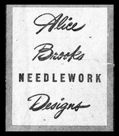 Alice Brooks Mail Order Envelope Logo