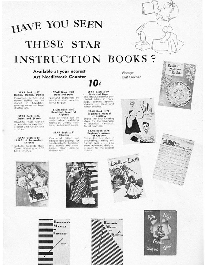 American Thread 1950's pattern book advertisememnt