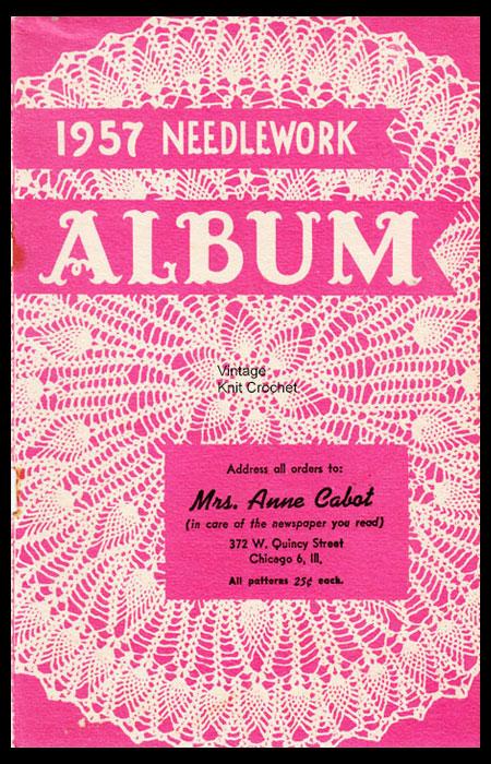 Anne Cabot Needlework Album 1957 patterns