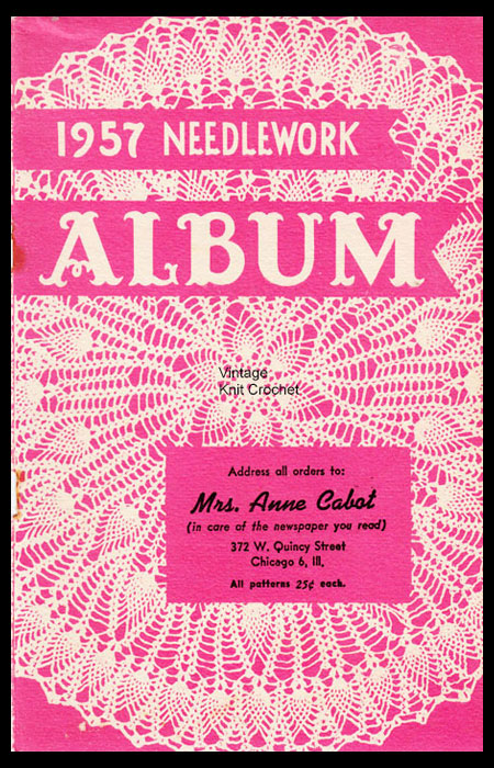 Anne Cabot 1957 Needlework Catalog