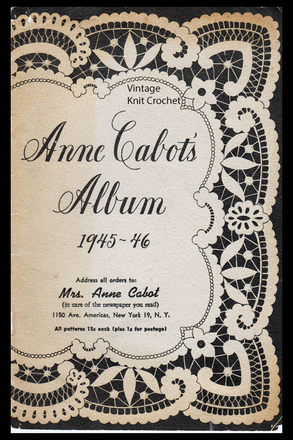 Anne Cabot 1945 46 Needlework Catalog