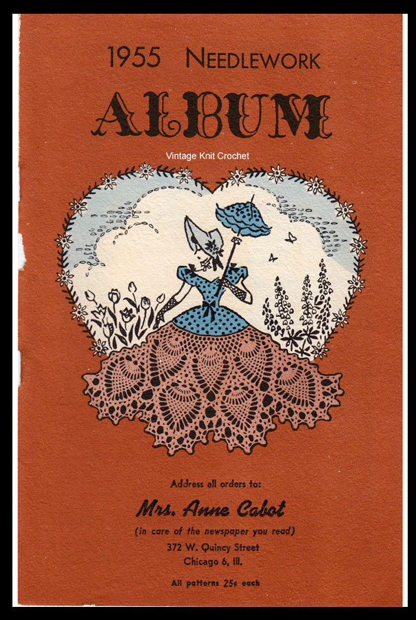 Anne Cabot Needlework Album 1955 patterns