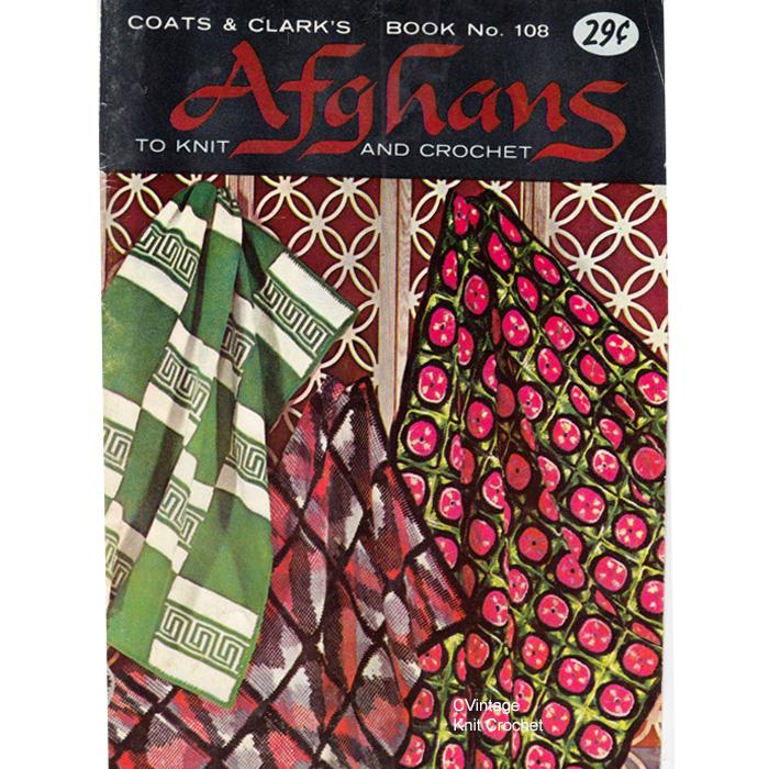 Coats Clarks Book 108, Afghans