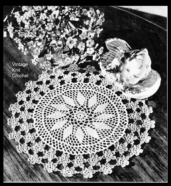 Forget Me Not Crochet Doily Pattern