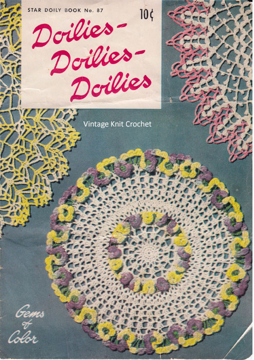 Crochet Doily Pattern Book Cover, American Thread Star 87
