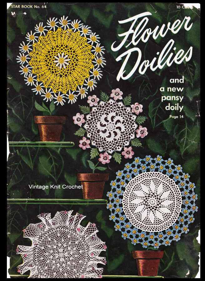 Crochet Flower Doily Pattern Book No 64