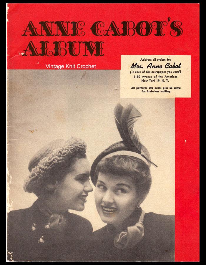 Anne Cabot Needlework Album 1949 patterns
