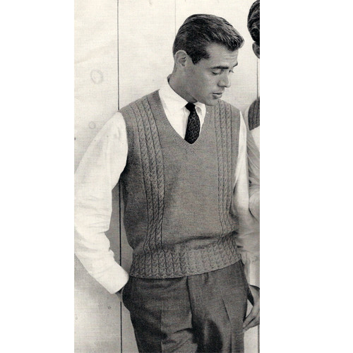 0643d3cae Mens Sweater Vest Knitting Pattern