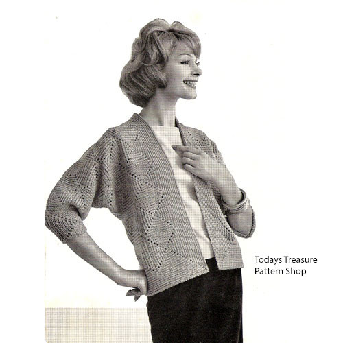 Easy Crochet Diamond Cardigan Pattern S M