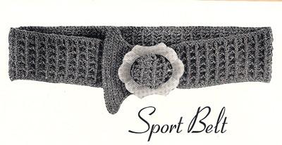 Free Waffle Weave Crochet Belt Pattern