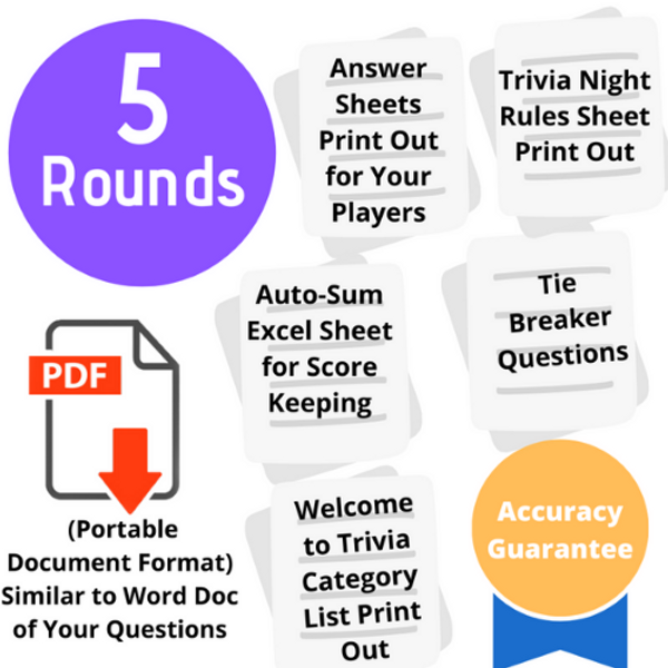 Build-Your-Own 5 Round Trivia Pack