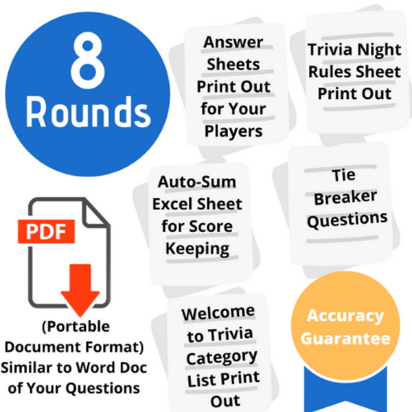 Build-Your-Own 8 Round Trivia Pack