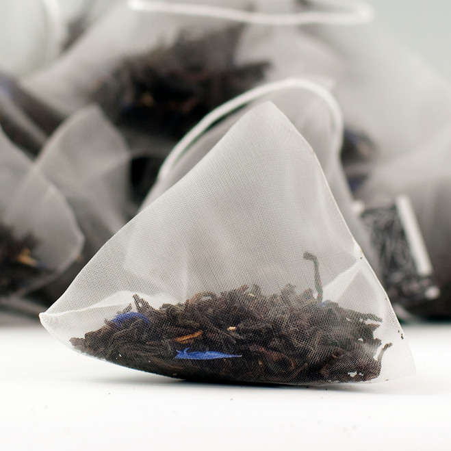 Cream Earl Grey Tea Pyramid Teabags