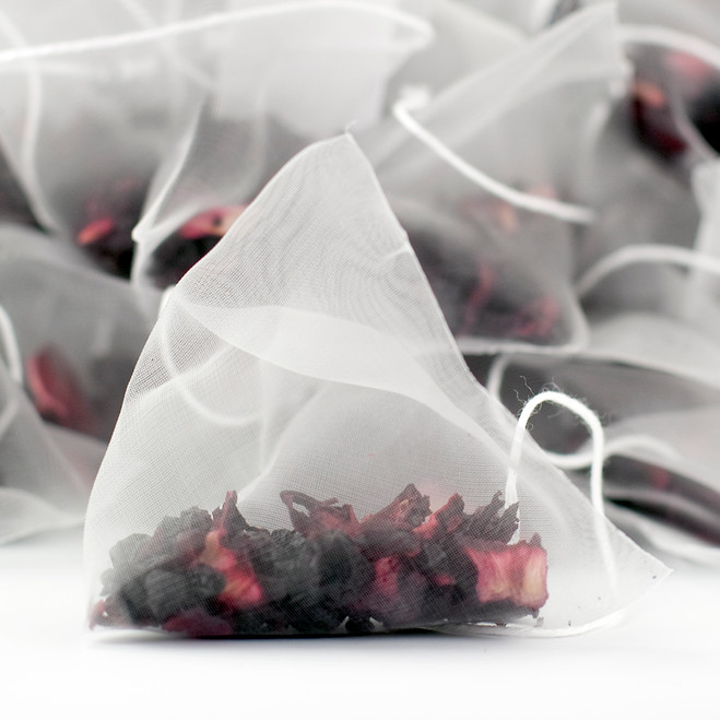 Delicious Berry Fruit Tea Pyramid Teabags