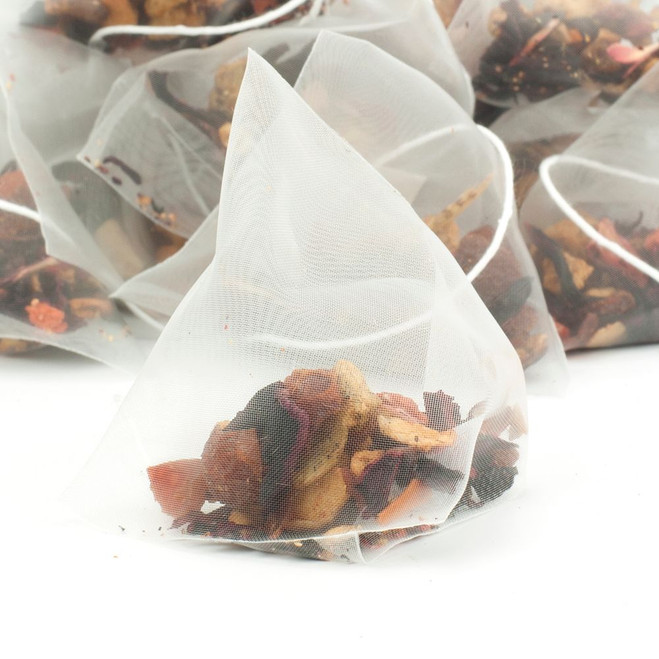 Exotic Strawberry Kiwi Fruit Tea Pyramid Teabags