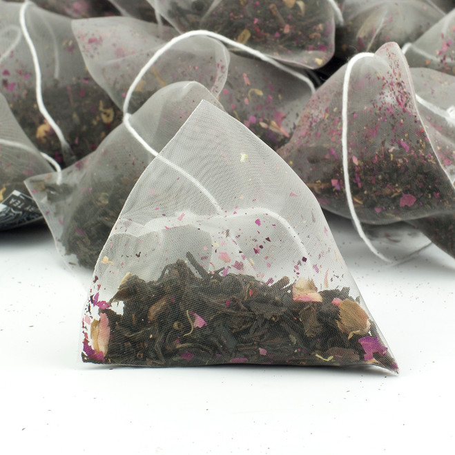 Rose Congou Superior China Black Tea Pyramid Teabags