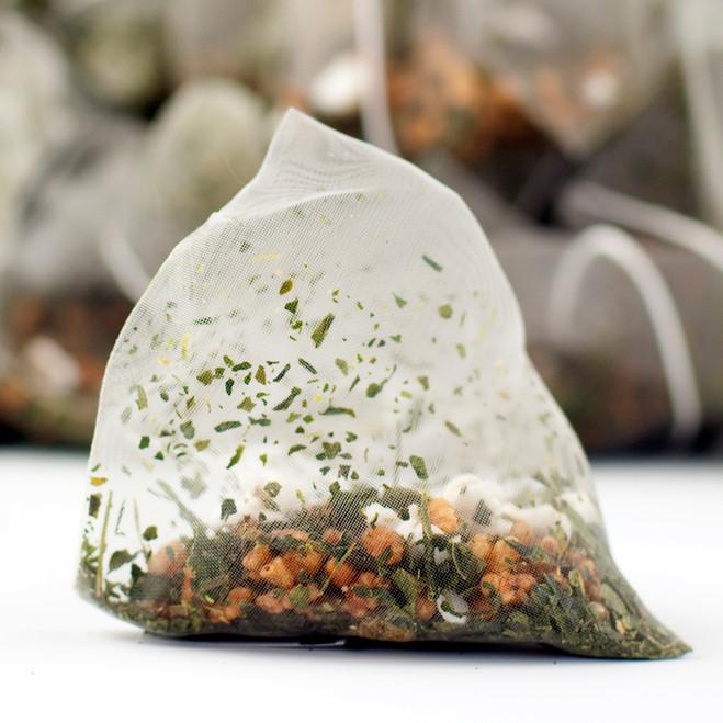 Genmaicha (a.k.a. Popcorn Tea) Pyramid Teabags