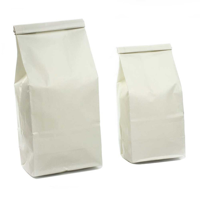 White Self Tie Kraft Bags (pack of 50)