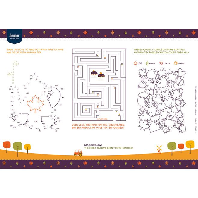 Autumn Fun Sheet (Pad with 50 sheets)