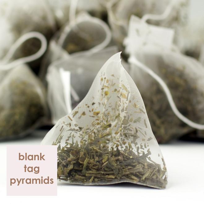 Japan Sencha Green Tea Blank Tag Pyramid Teabags