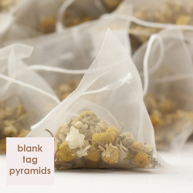 Egyptian Camomile Tea Blank Tag Pyramid Teabags