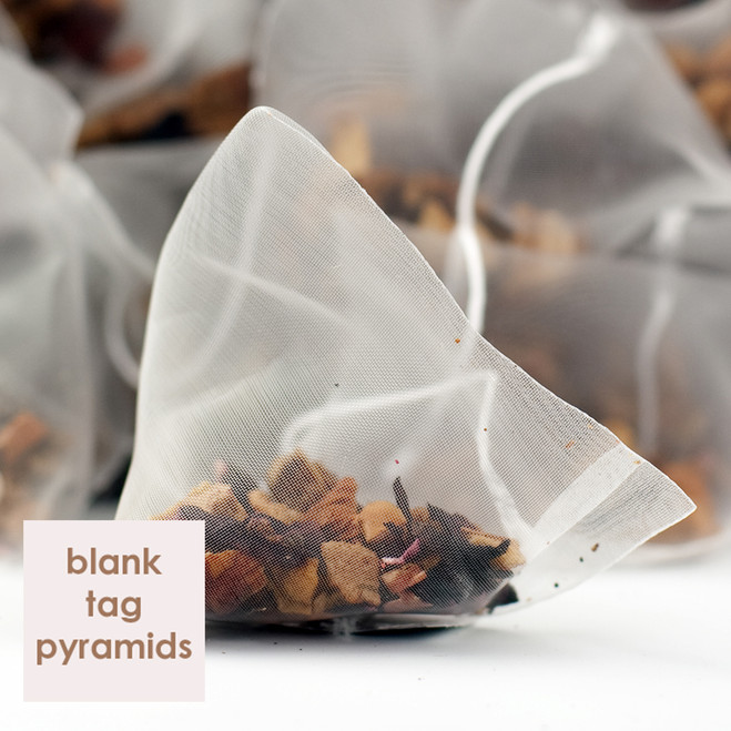 Orange & Apple Fruit Tea Blank Tag Pyramid Teabags