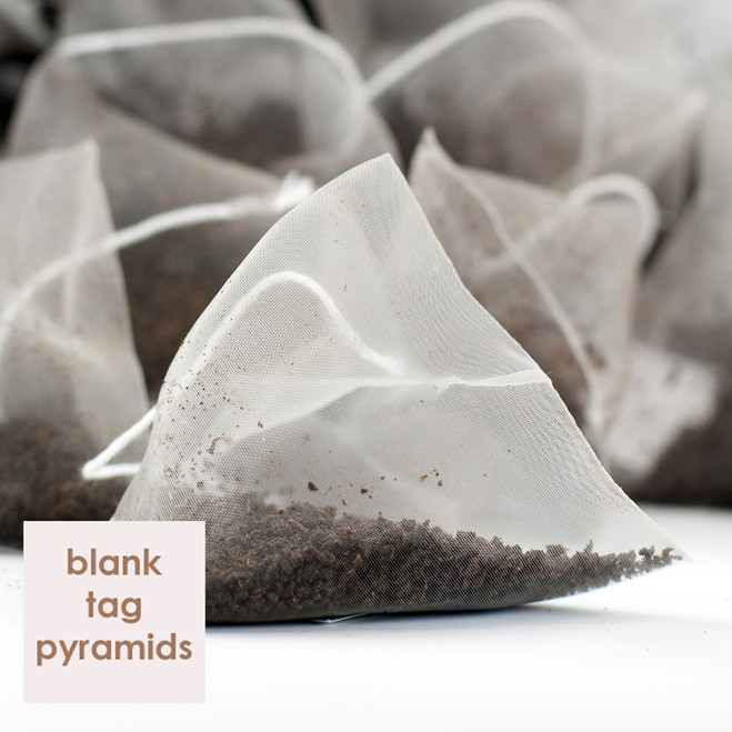 Irish Breakfast Plain White Tagged Pyramid Teabags