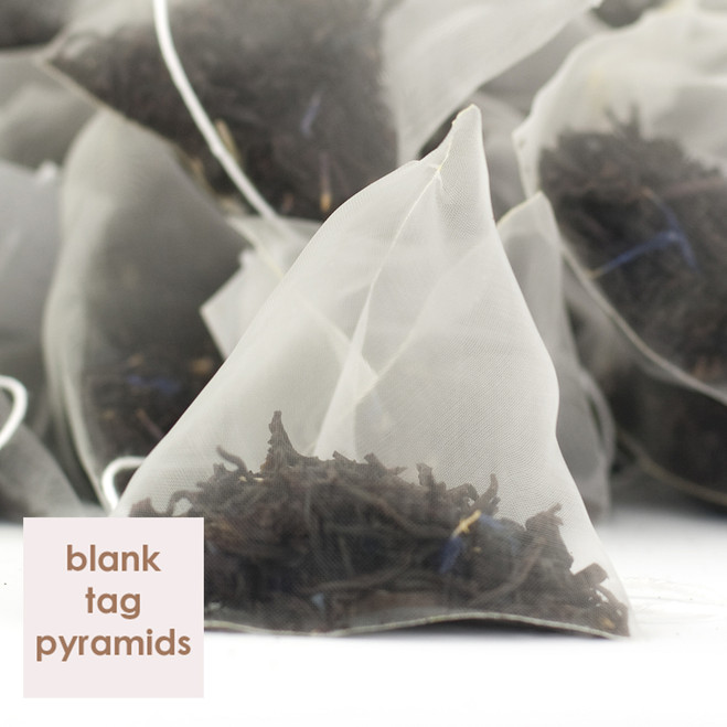 Earl Grey Tea Blank Tag Pyramid Teabags