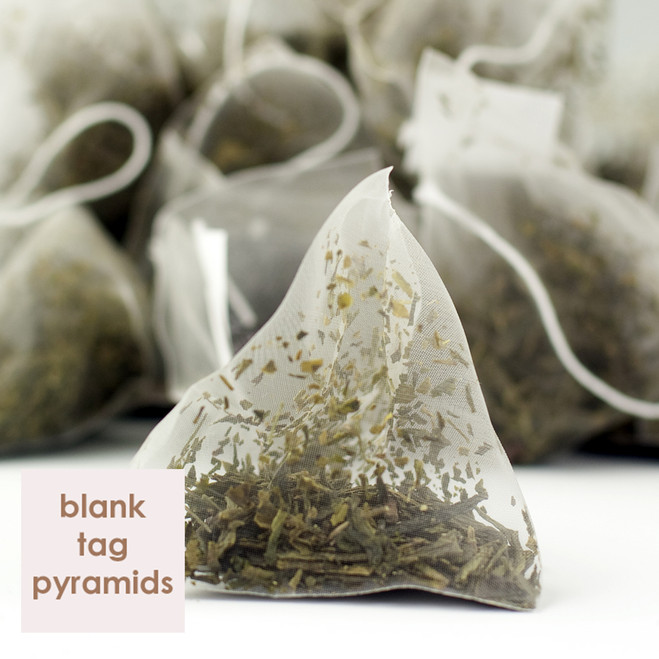 Japan Sencha Green Tea Blank Tag Pyramid Teabags