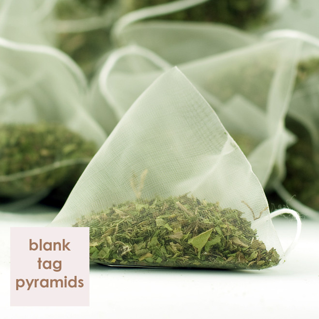 Peppermint Herbal Tea Blank Tag Pyramid Teabags