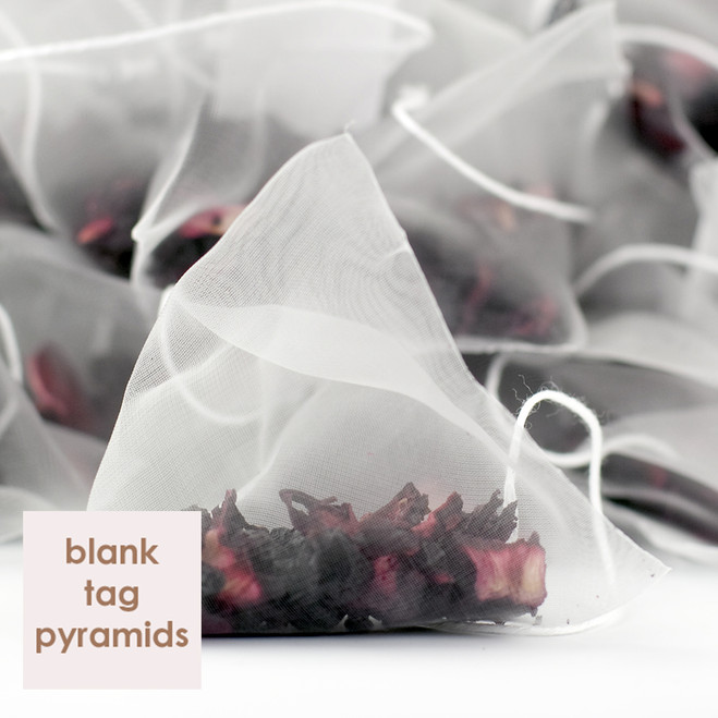 Delicious Berry Fruit Tea Blank Tag Pyramid Teabags