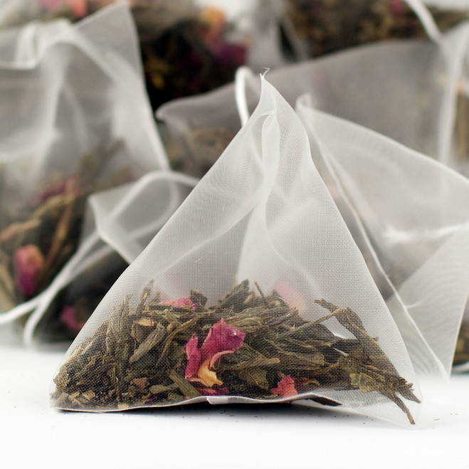 Kaika Cherry Sencha Green Tea - Pyramid Tea Bags