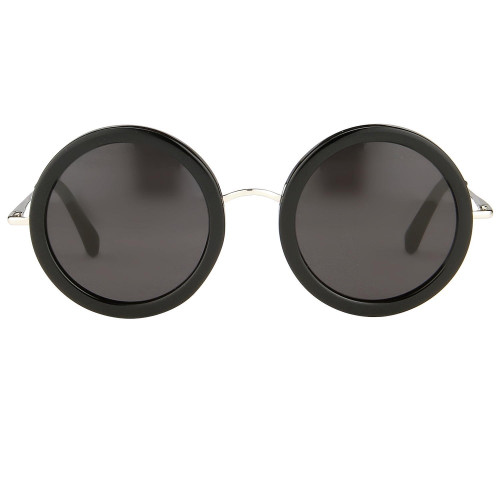 Black Oversized Round Sunglasses