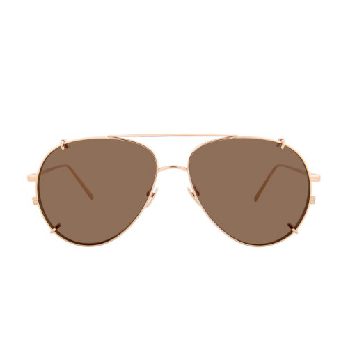 LINDA FARROW C6 AVIATOR SUNGLASSES