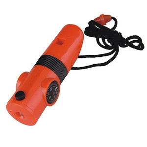 7-Function Whistle, Light, Compass, Mirror, Thermometer, Magnifying Glass