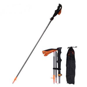 Retractable 5-Section Aluminum Alloy Mountain Climbing Hiking Walking Stick Adjustable Trekking Pole