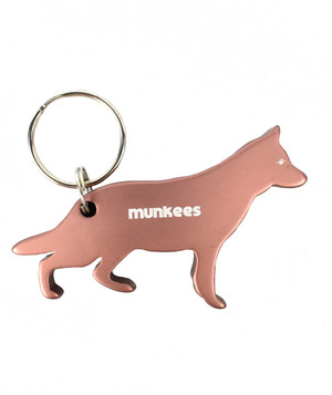 Munkees Dog Bottle Opener Keychain - German Shepherd