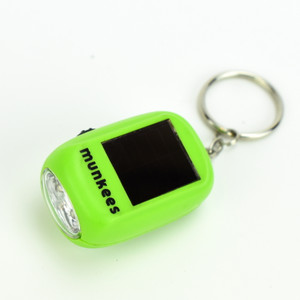 Munkees Mini Solar Dynamo LED Flashlight with Keychain