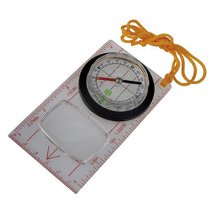 Fluorescent Map Compass, Location, direction, magnifying glass