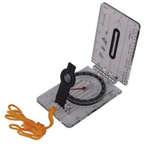 Foldable Map Compass, Liquid, Mirror, AceCamp