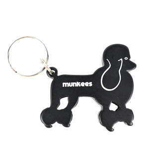 Munkees Dog Bottle Opener Keychain - Poodle