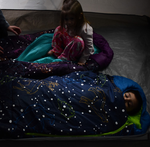ACECAMP KIDS & YOUTH GLOW-IN-THE-DARK SLEEPING BAG MUMMY