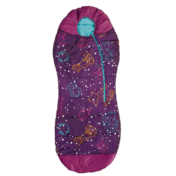 ACECAMP KIDS & YOUTH GLOW-IN-THE-DARK SLEEPING BAG MUMMY